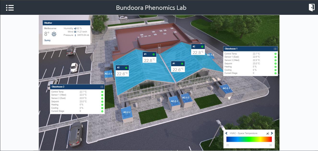 Bundoora Phenomics Lab building system plan