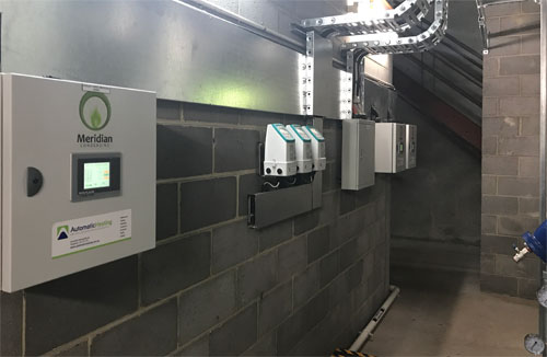 langham hotel plant room automatic building system