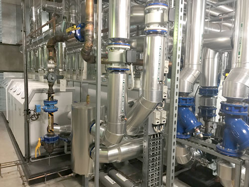 langham hotel plant room building system
